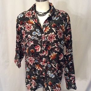 Anthropologie Bailey Chloe Button Top Floral Small